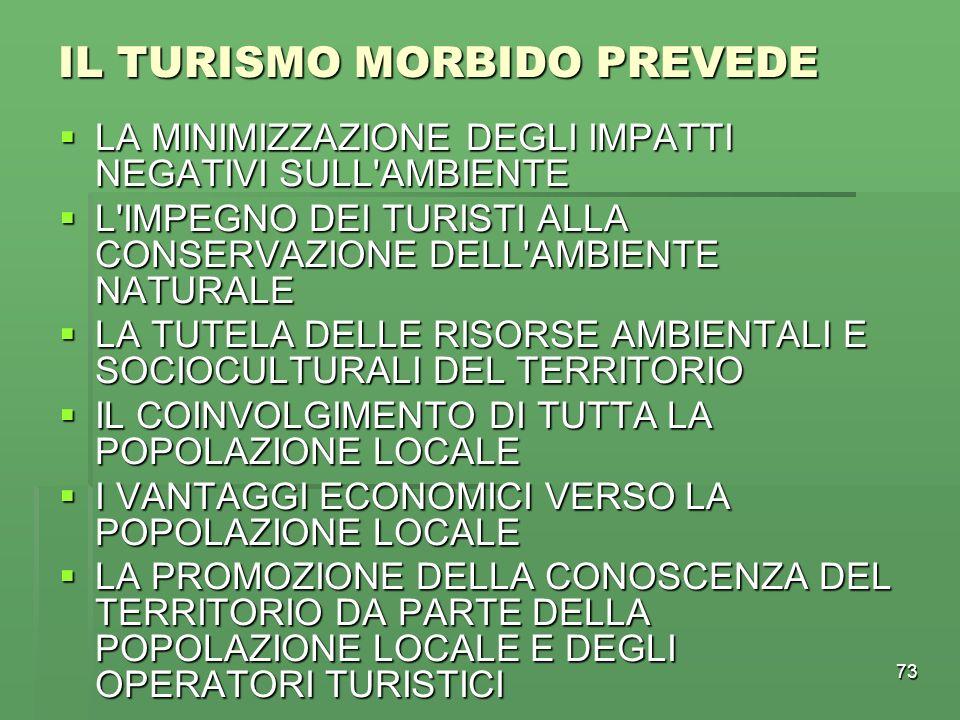 IL TURISMO MORBIDO PREVEDE