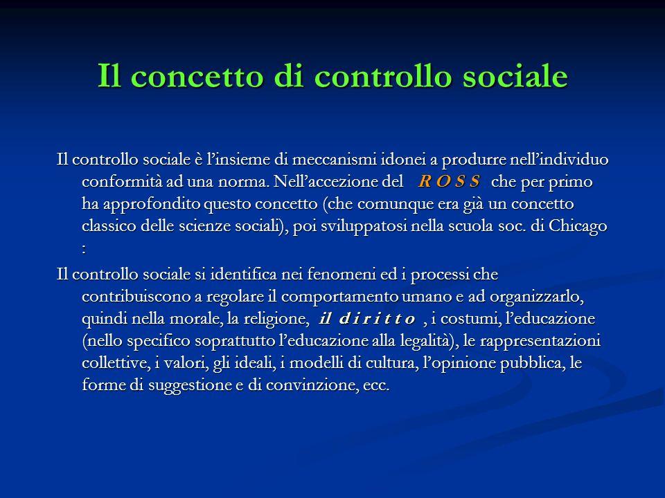 Il concetto di controllo sociale