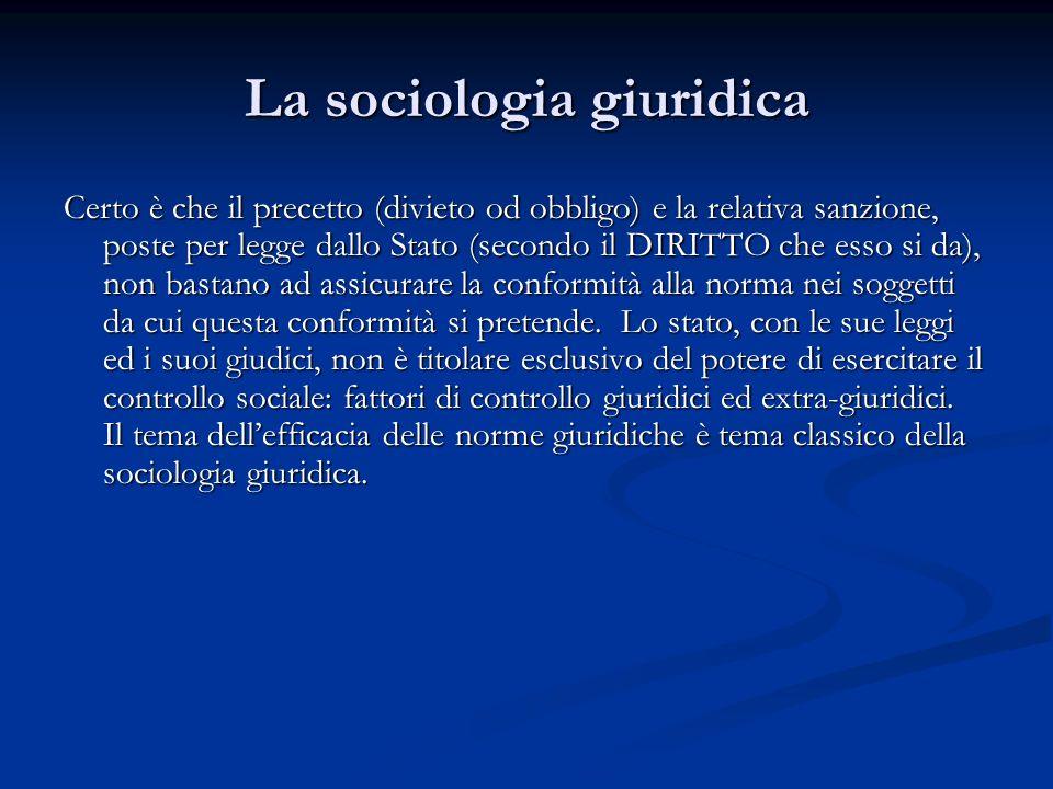 La sociologia giuridica