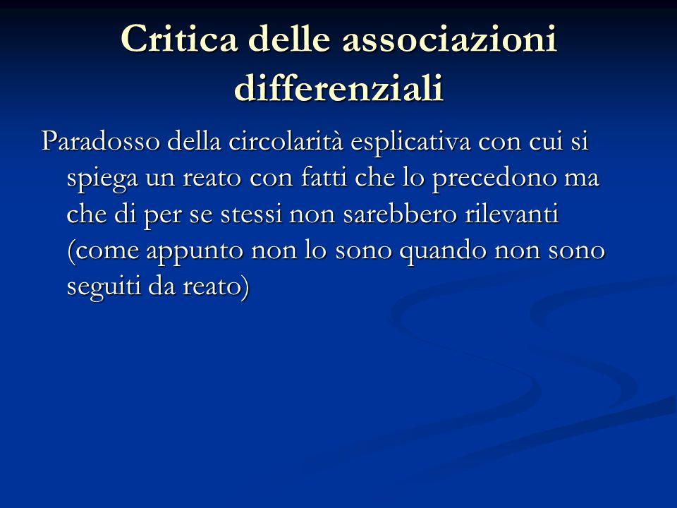 Critica delle associazioni differenziali