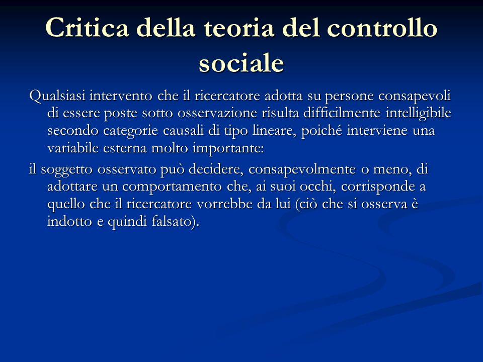 Critica della teoria del controllo sociale