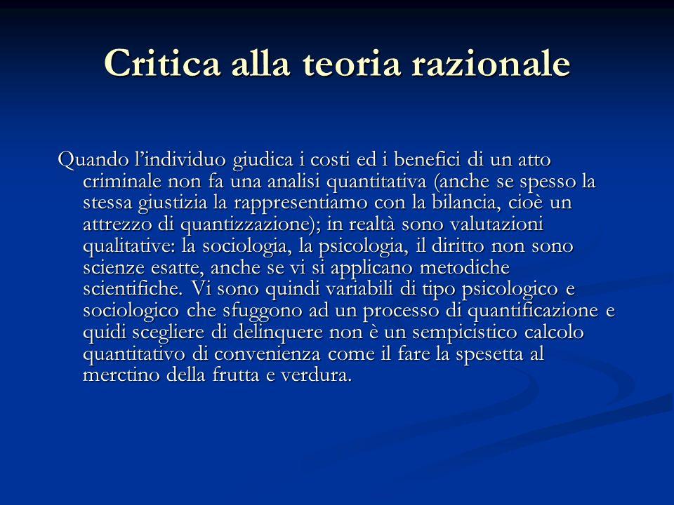 Critica alla teoria razionale