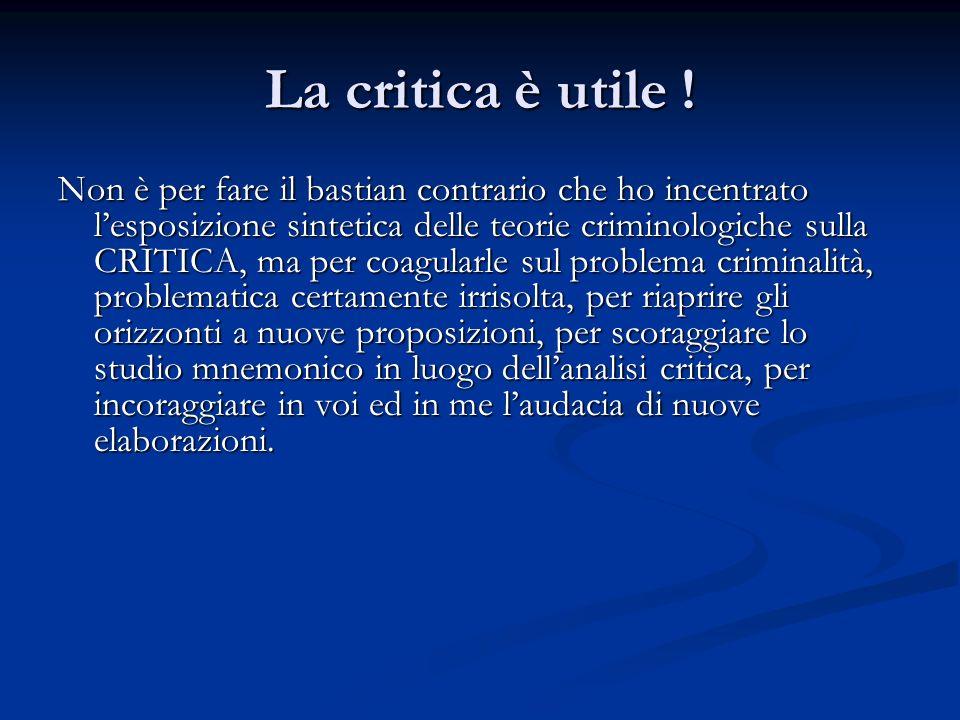 La critica è utile !
