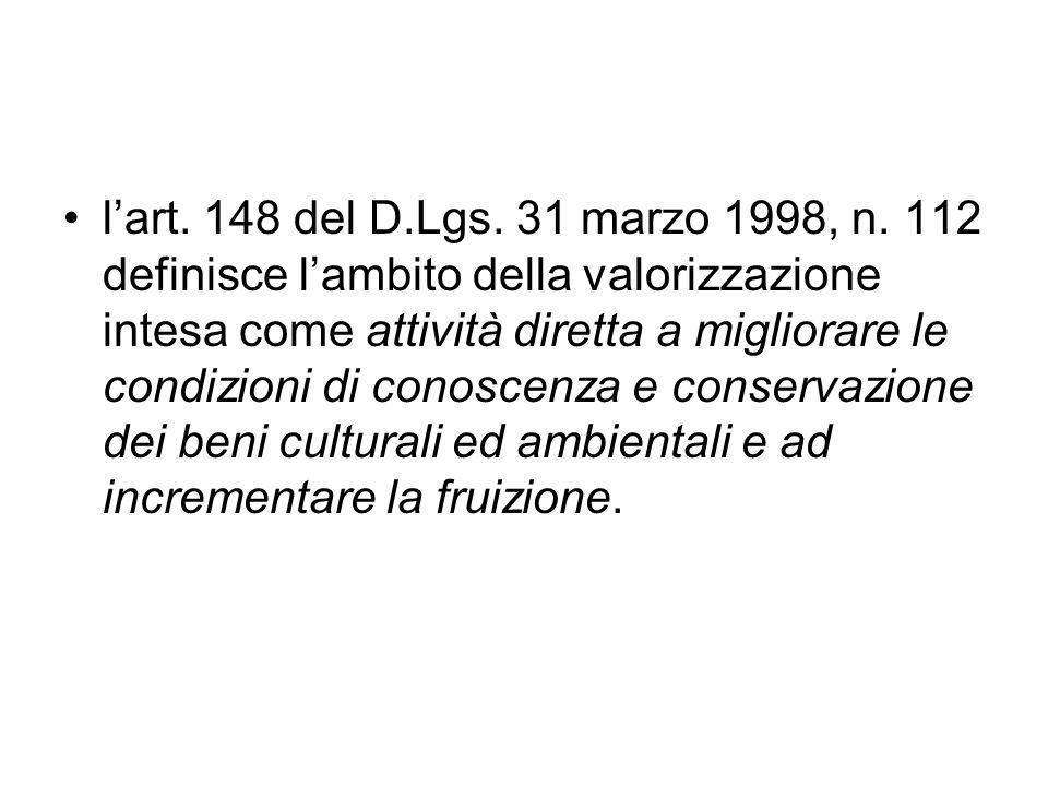 l'art. 148 del D.Lgs. 31 marzo 1998, n.