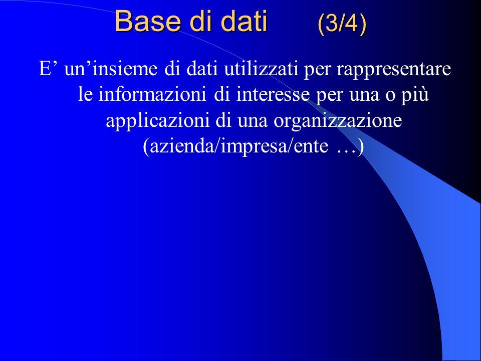 Base di dati (3/4)