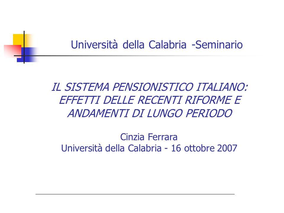 Università della Calabria -Seminario
