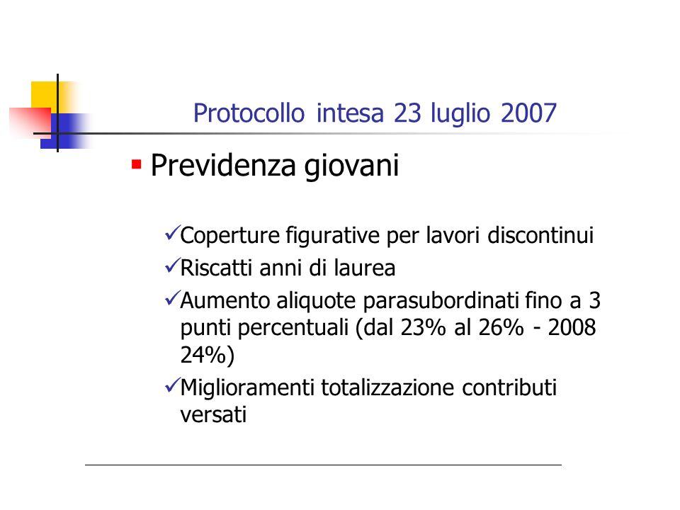 Protocollo intesa 23 luglio 2007