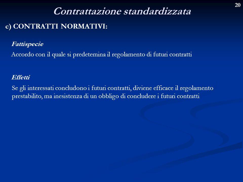 Contrattazione standardizzata