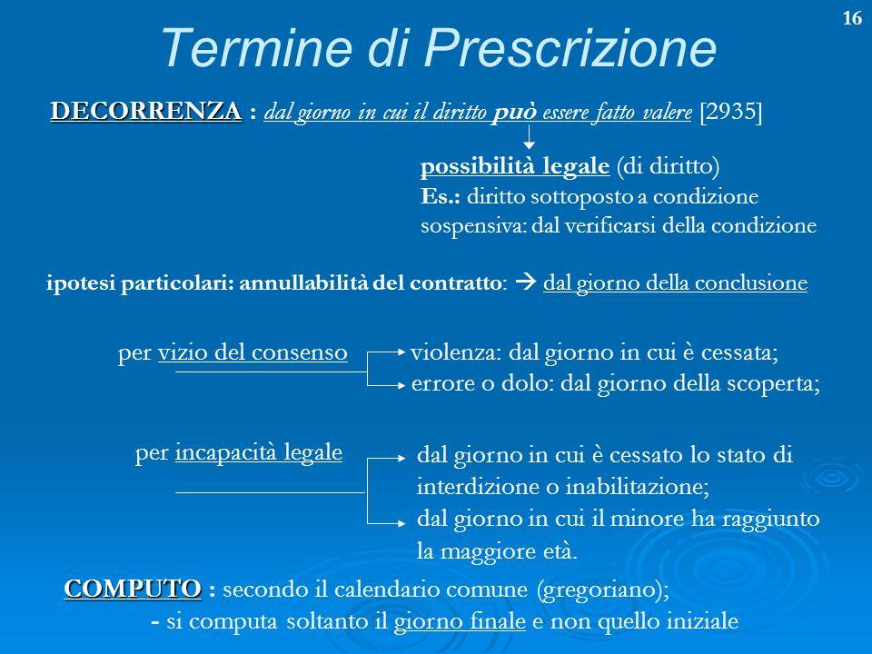 Termine di Prescrizione