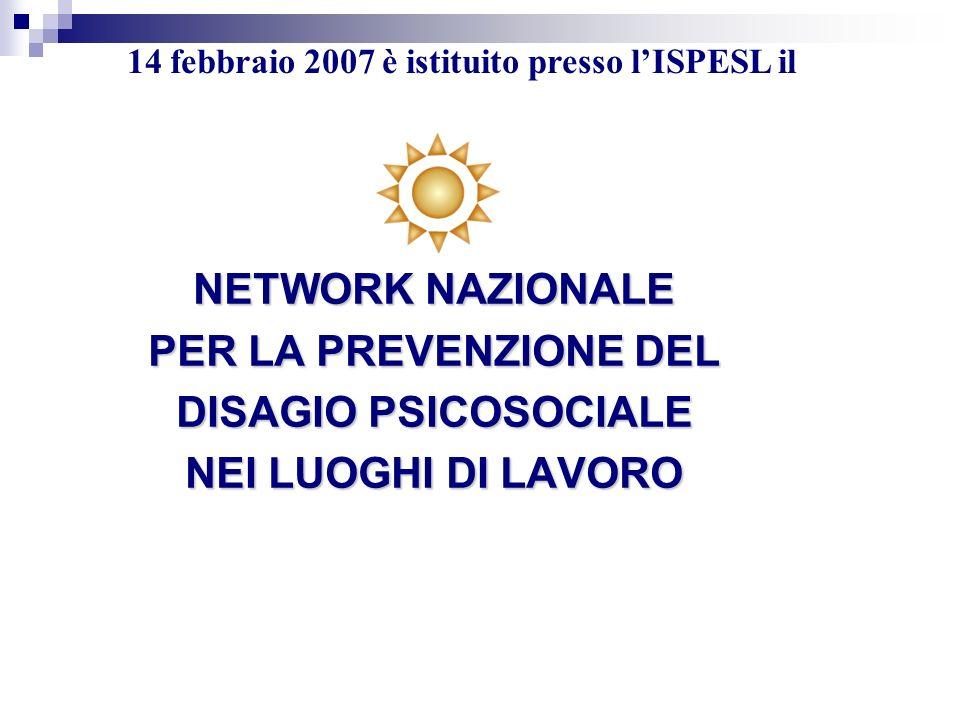 NETWORK NAZIONALE PER LA PREVENZIONE DEL DISAGIO PSICOSOCIALE