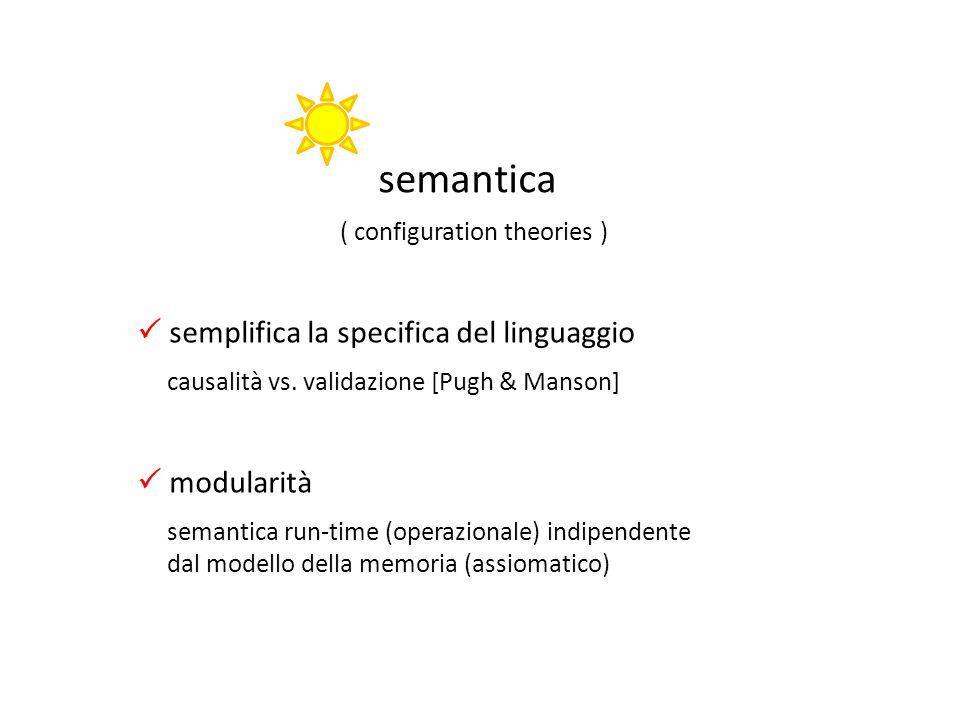 semantica  semplifica la specifica del linguaggio  modularità