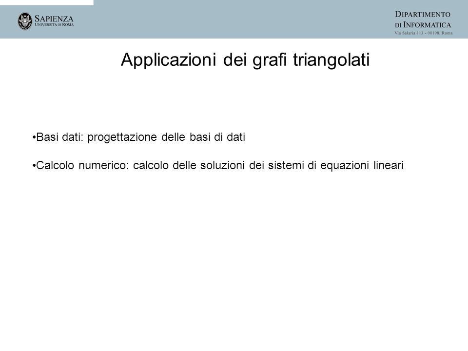 Applicazioni dei grafi triangolati