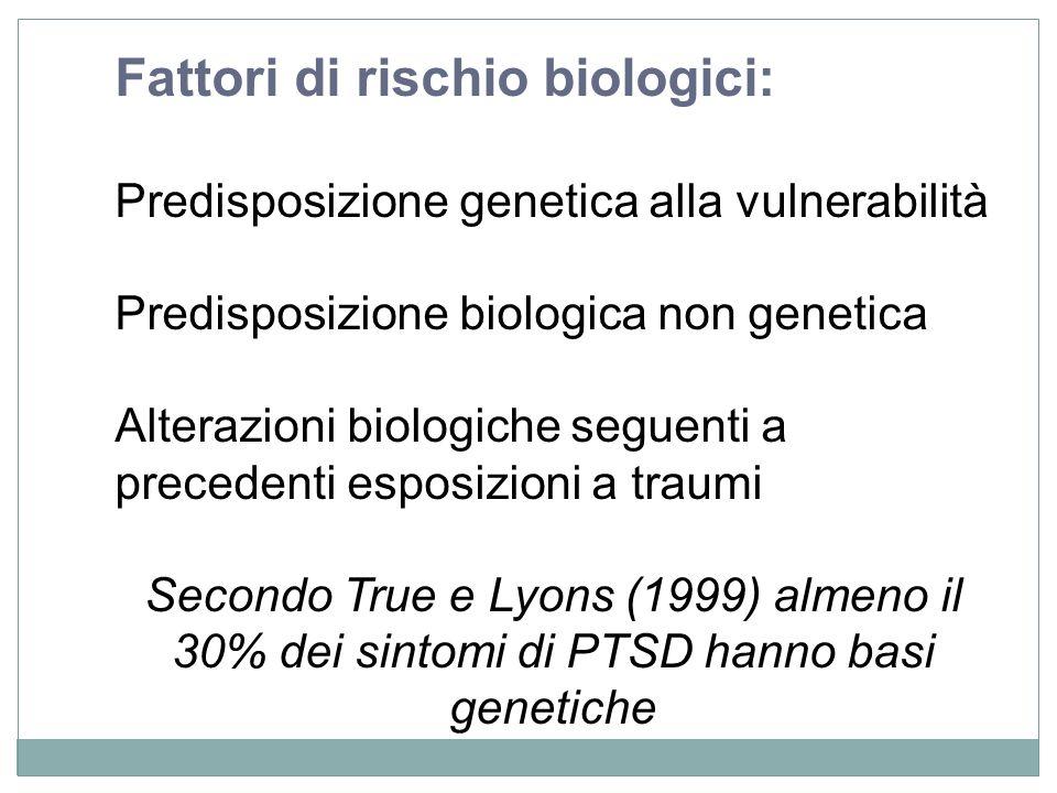 Fattori di rischio biologici: