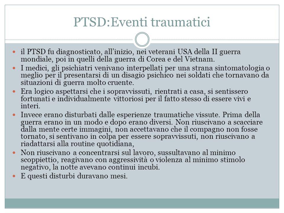PTSD:Eventi traumatici