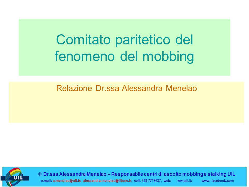 Comitato paritetico del fenomeno del mobbing