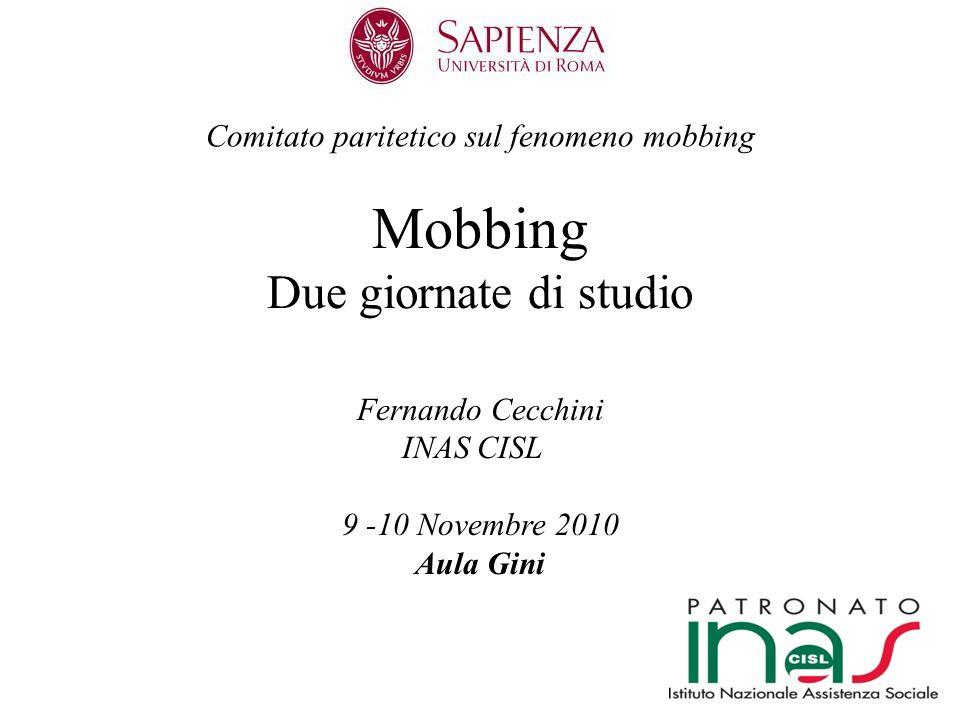 Comitato paritetico sul fenomeno mobbing