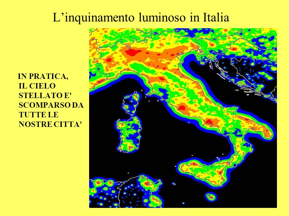 L'inquinamento luminoso in Italia