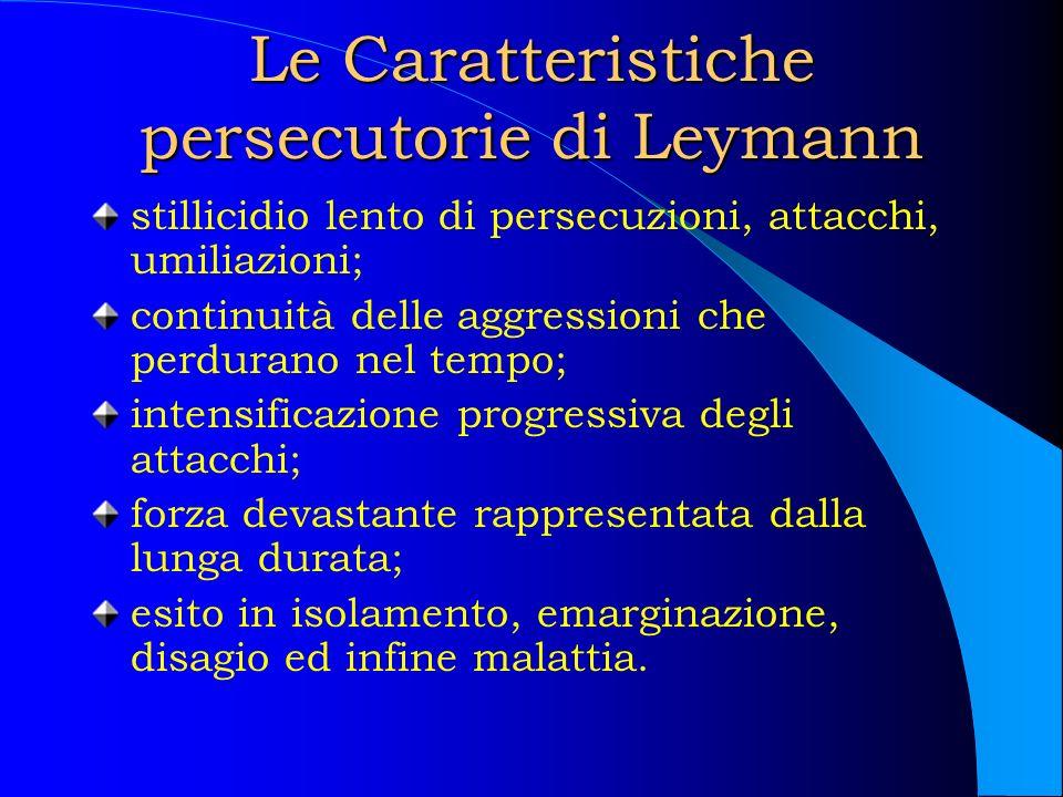 Le Caratteristiche persecutorie di Leymann