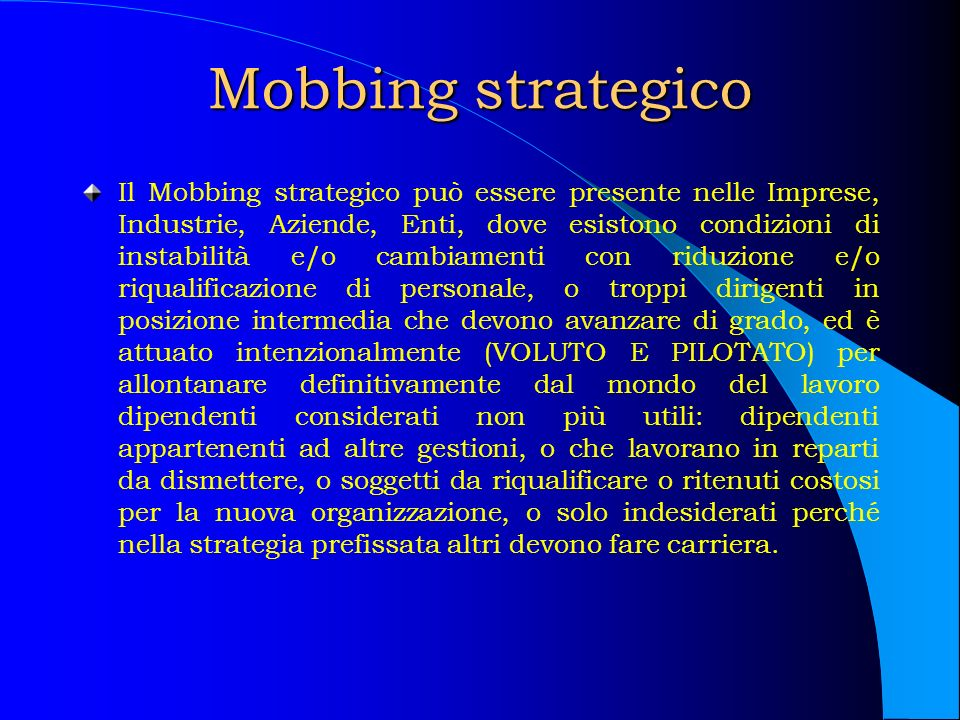Mobbing strategico