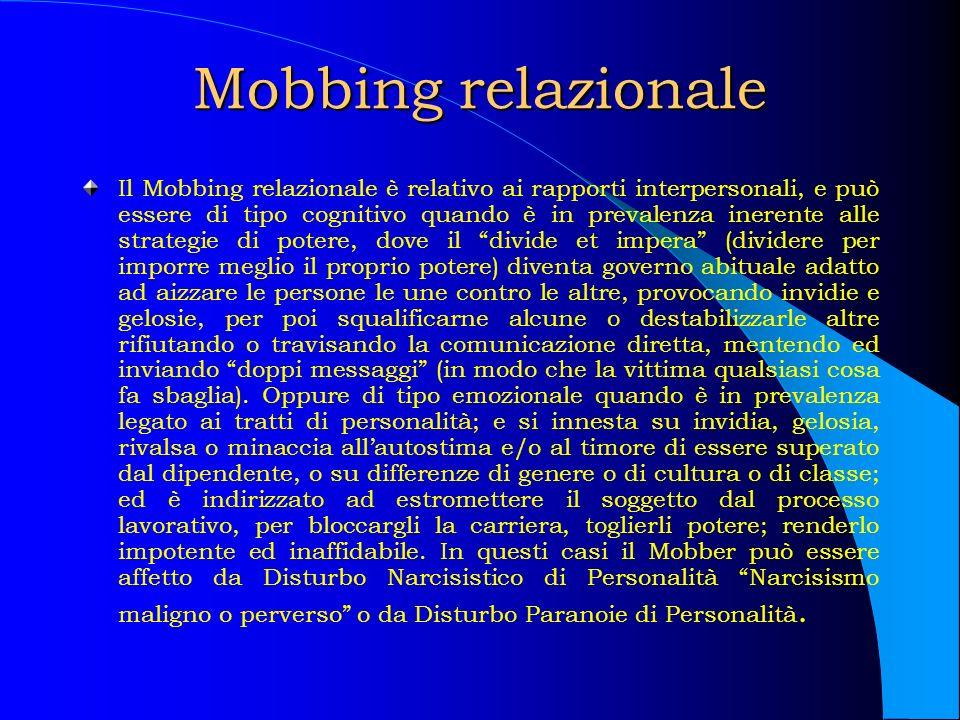 Mobbing relazionale