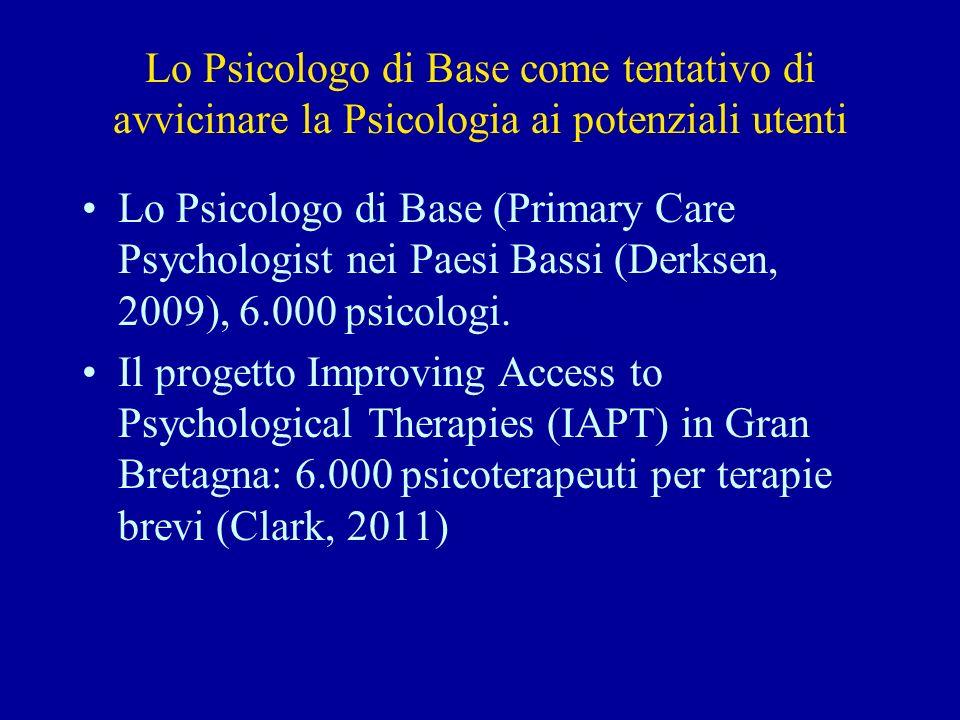 Lo Psicologo di Base come tentativo di avvicinare la Psicologia ai potenziali utenti