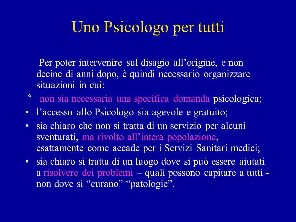 Uno Psicologo per tutti