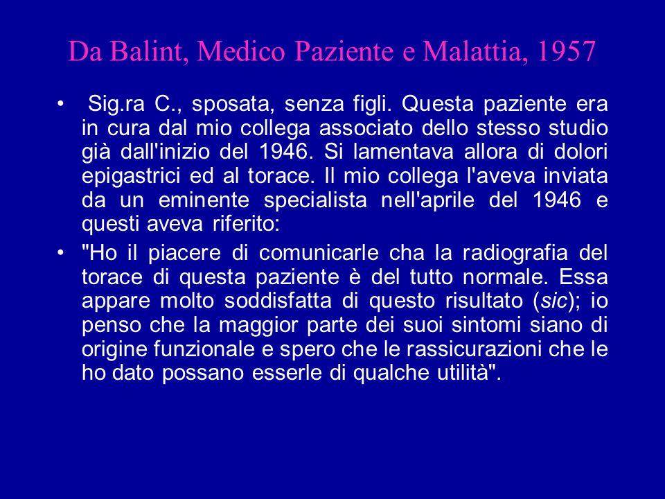 Da Balint, Medico Paziente e Malattia, 1957