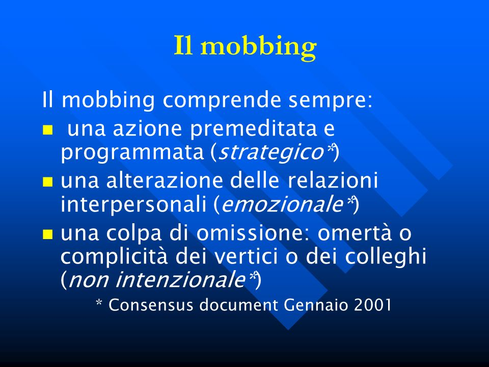 * Consensus document Gennaio 2001