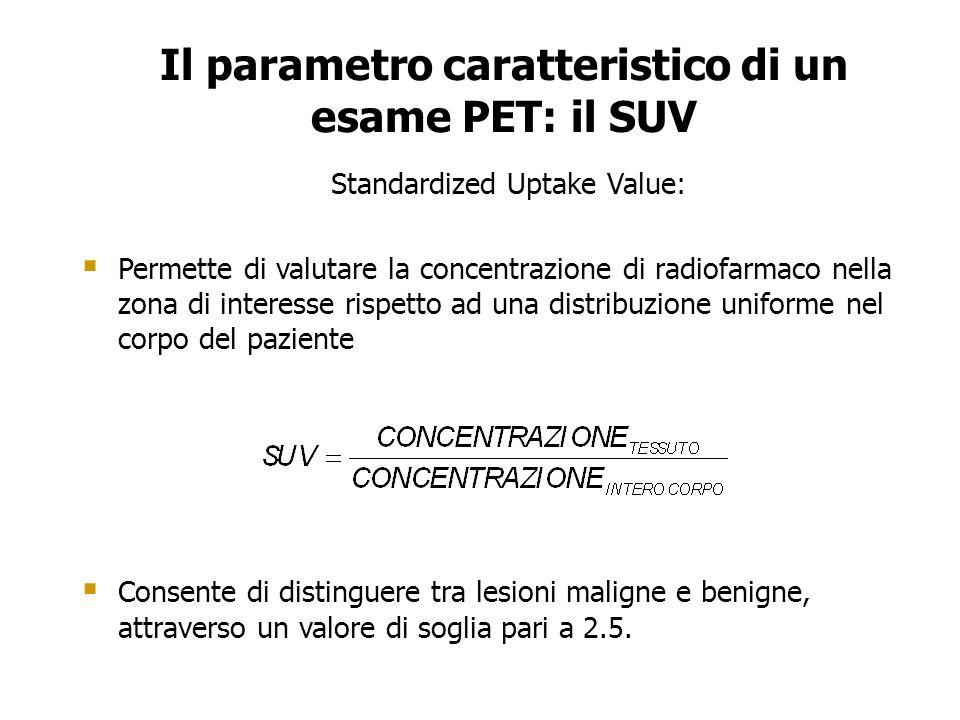 Il parametro caratteristico di un esame PET: il SUV