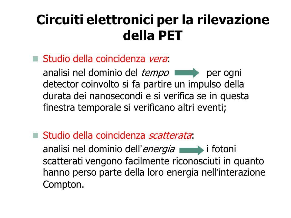 Circuiti elettronici per la rilevazione della PET
