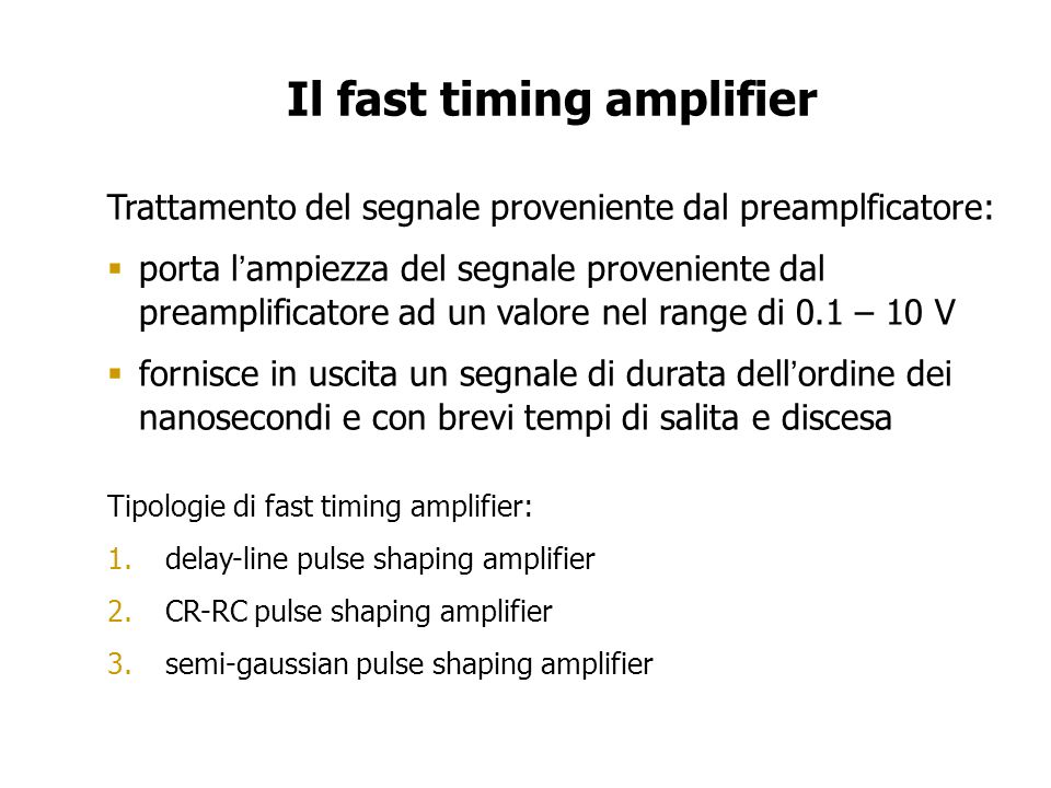 Il fast timing amplifier