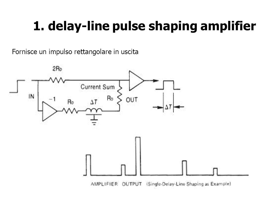 1. delay-line pulse shaping amplifier