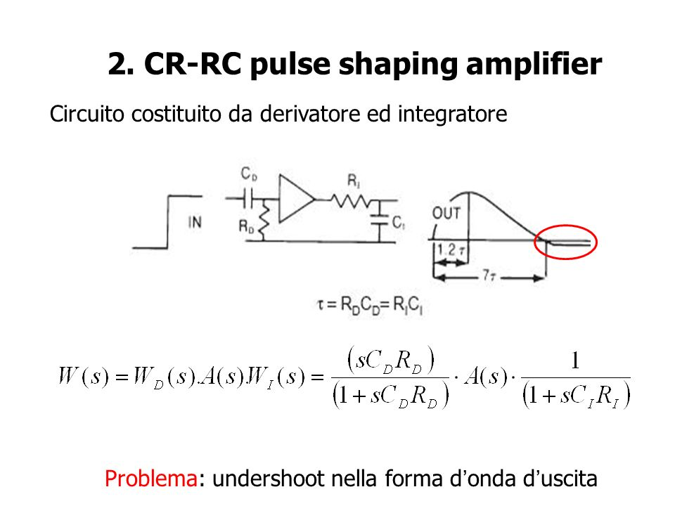 2. CR-RC pulse shaping amplifier