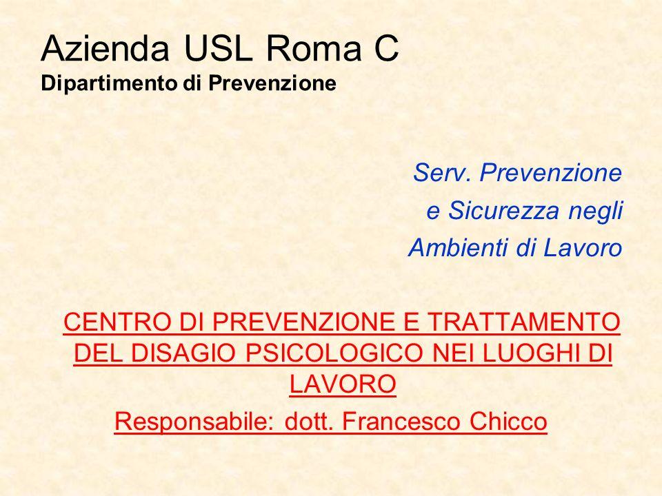 Azienda USL Roma C Dipartimento di Prevenzione