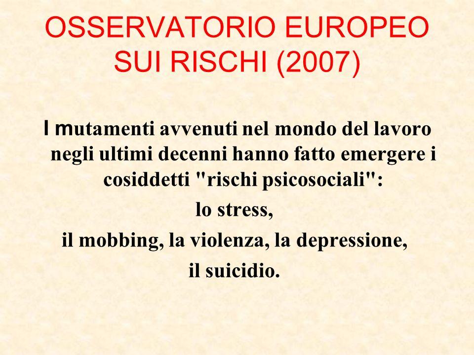 OSSERVATORIO EUROPEO SUI RISCHI (2007)