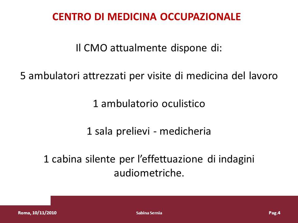 Centro di Medicina Occupazionale