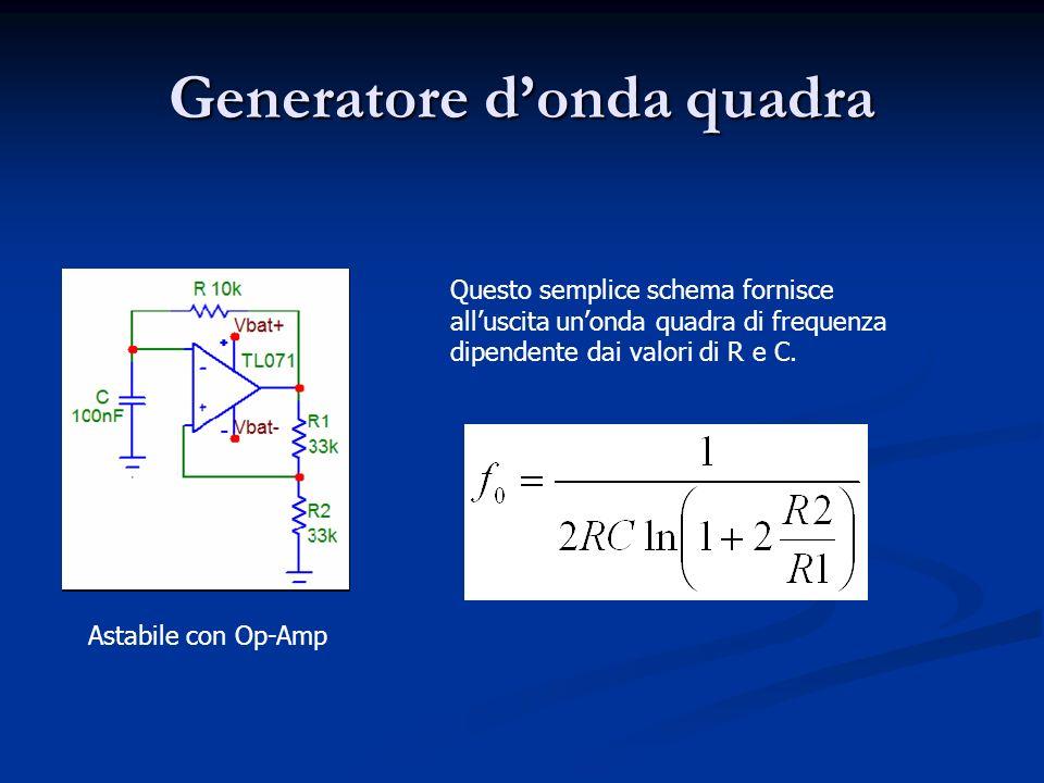 Generatore d'onda quadra