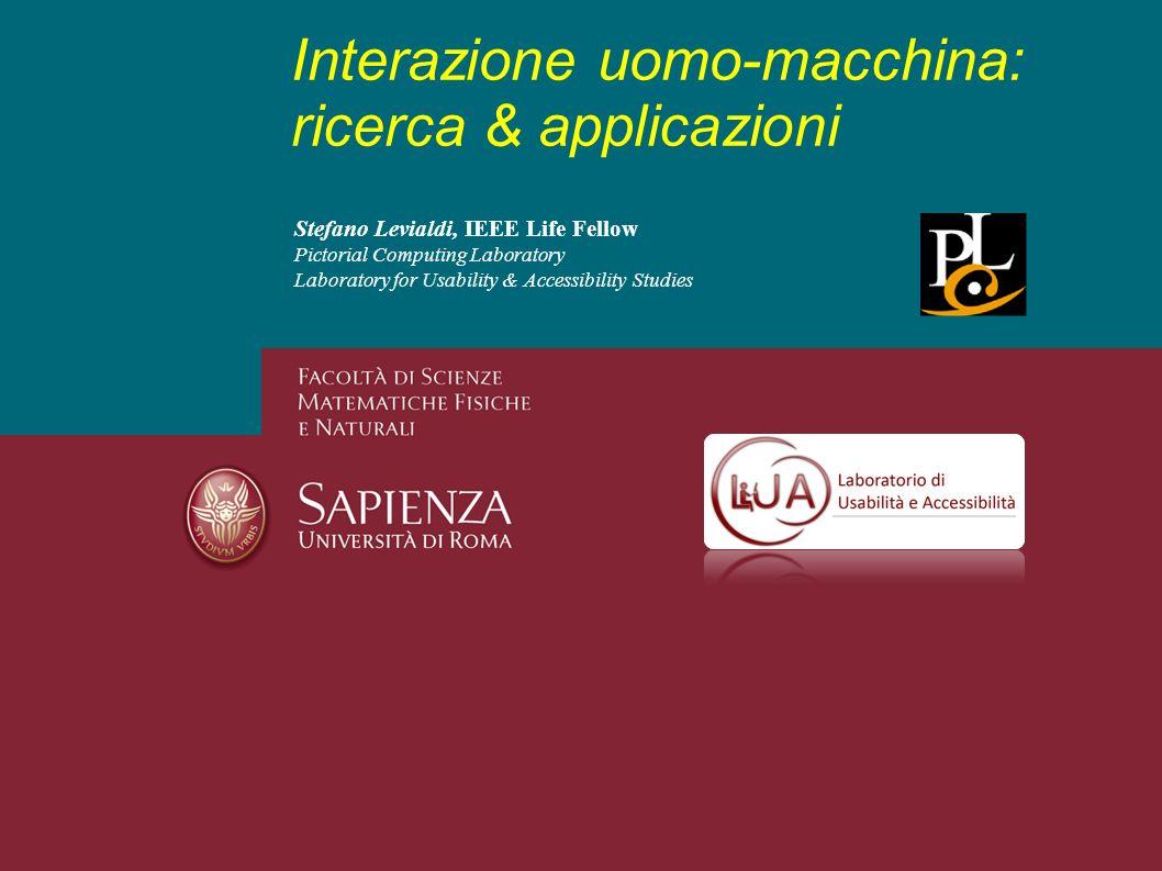 Interazione uomo-macchina: ricerca & applicazioni