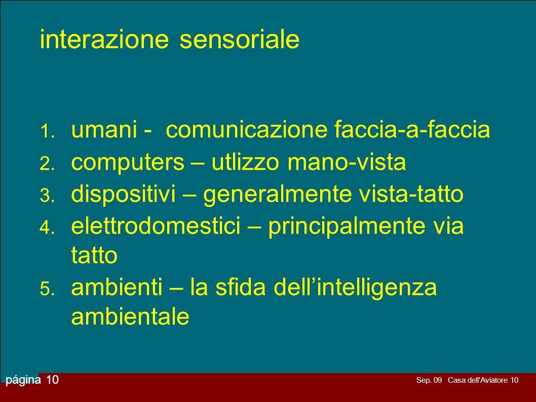 interazione sensoriale