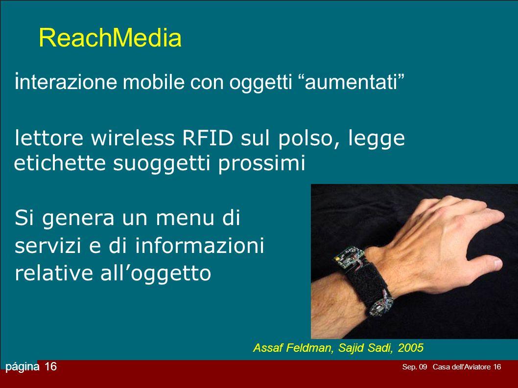 ReachMedia interazione mobile con oggetti aumentati