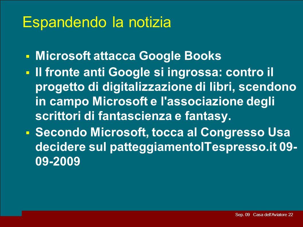 Espandendo la notizia Microsoft attacca Google Books