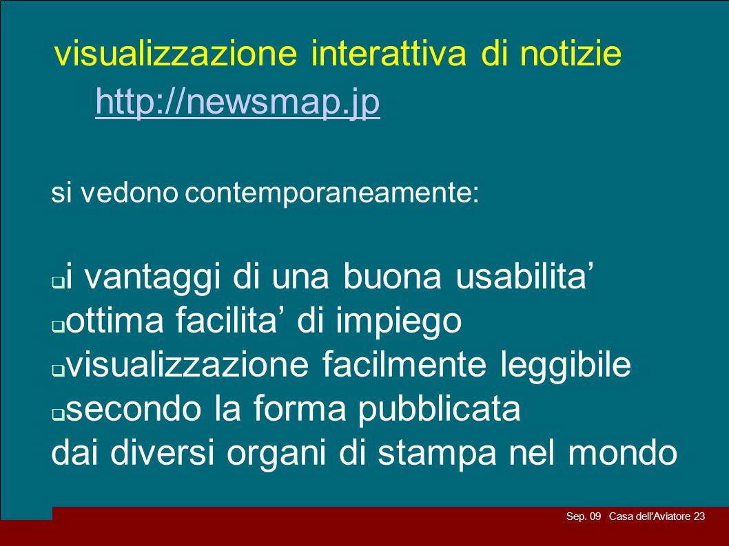 visualizzazione interattiva di notizie