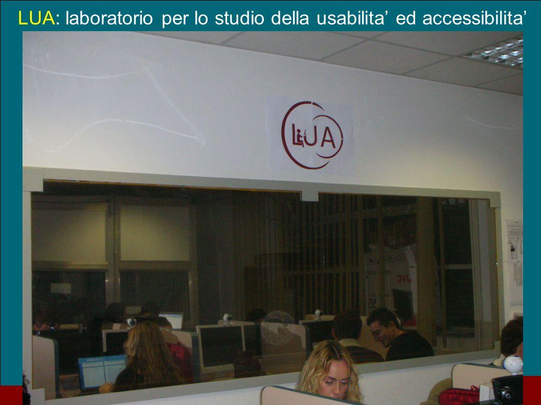 LUA: laboratorio per lo studio della usabilita' ed accessibilita'