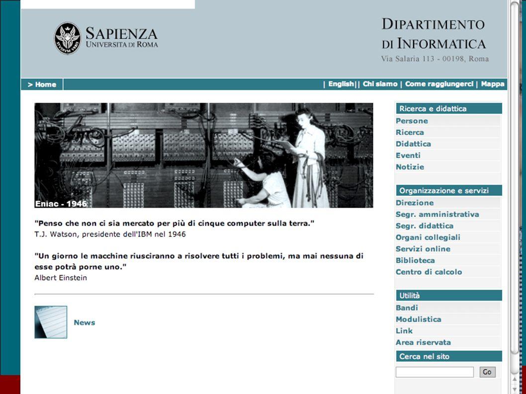 Il nuovo sito del Dipartimento