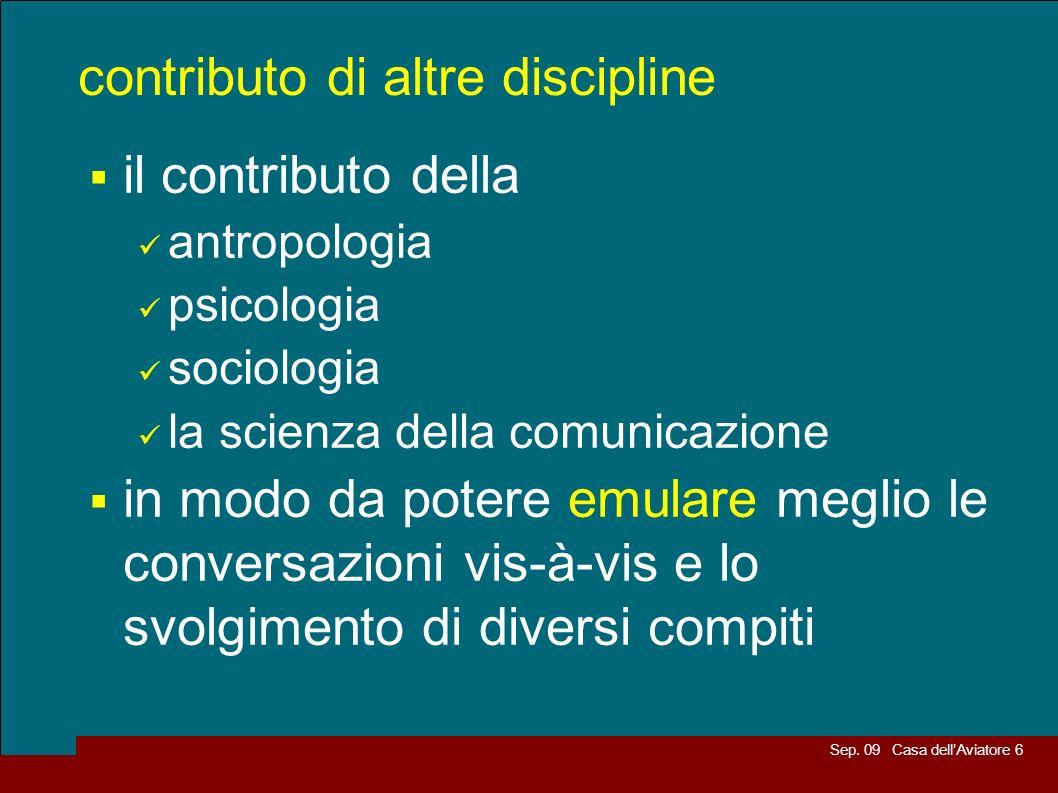 contributo di altre discipline