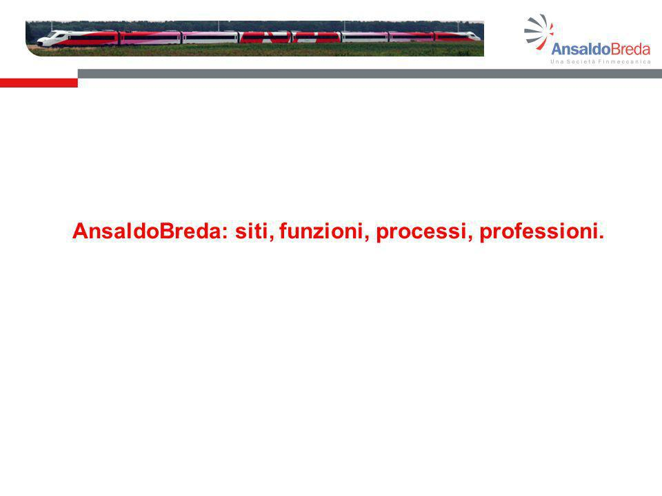 AnsaldoBreda: siti, funzioni, processi, professioni.