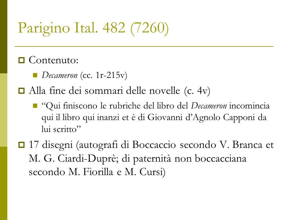 Parigino Ital. 482 (7260) Contenuto: