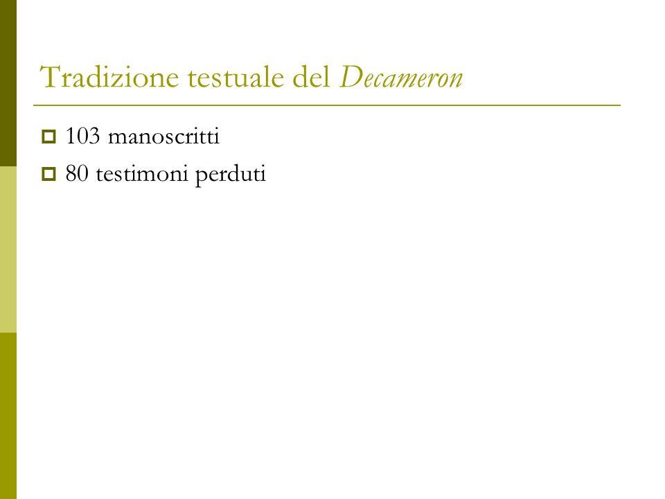 Tradizione testuale del Decameron