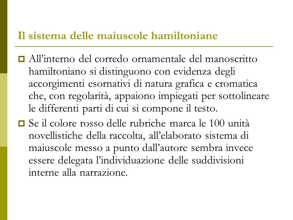 Il sistema delle maiuscole hamiltoniane