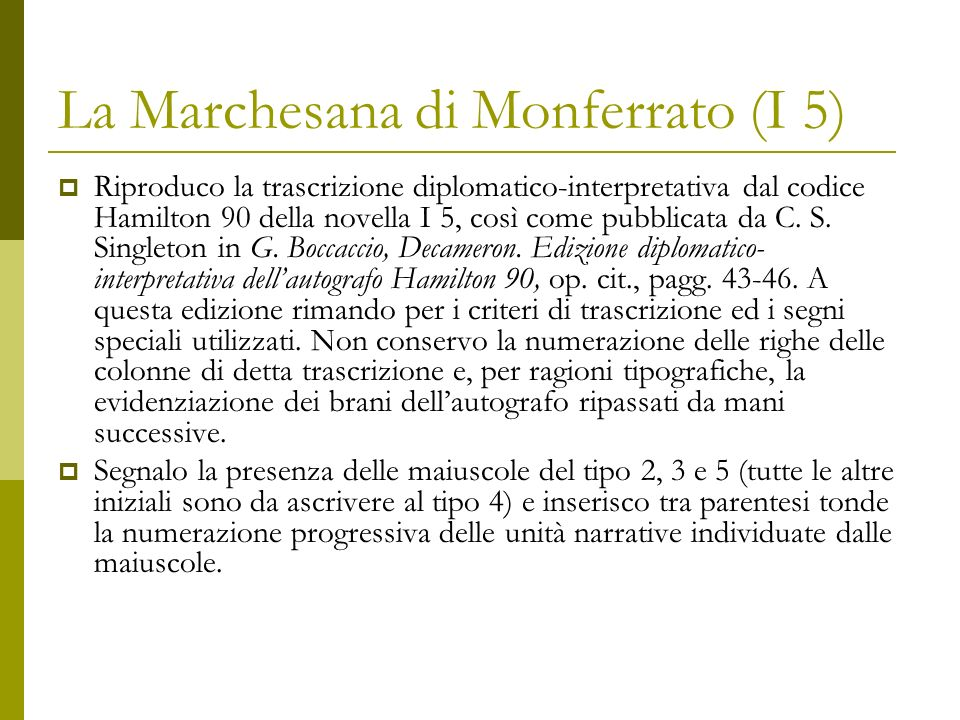 La Marchesana di Monferrato (I 5)
